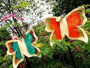 Socha - Motýlik-zápich - 10734479_