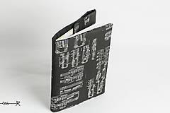 Papiernictvo - Obal na knihu otvárací - noty v čiernom - 10734405_