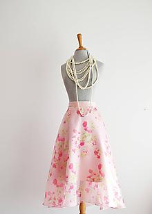 Sukne - Kvetovaná  sukňa z organzy - 10734499_