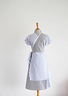 """Šaty - """"Upcy"""" zavinovacie bavlnené šaty - 10734619_"""
