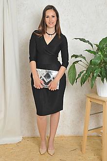 Šaty - Šaty Audrey - černé třpytivé, vel. S/M - 10734378_