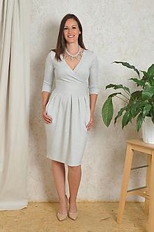 Šaty - Šaty Audrey - stříbrné třpytivé, vel. S/M - 10734547_