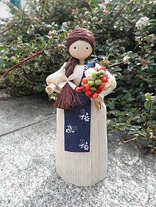 Dekorácie - Šúpolienka - dievčatko s kytičkou - 10738545_