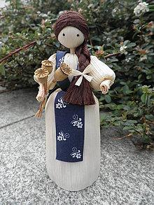 Dekorácie - Šúpolienka - dievčatko s makovičkami - 10738589_