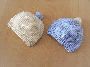 Detské čiapky - Detská čiapočka biela - 10737386_