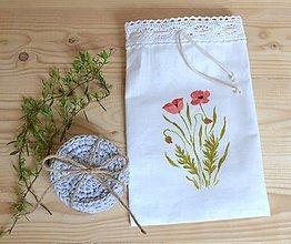 Úžitkový textil - Odličovacie tampóny v darčekovom vrecúšku - 10738711_