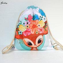 Detské tašky - Vak na záda - Srnečka s květinovou korunkou - 10737728_