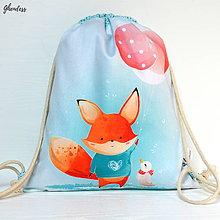 Detské tašky - Vak na záda - Lišák s balonky - 10737741_