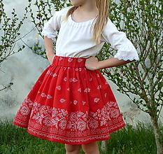 Detské oblečenie - Detská sukienka Bordúra Folk - 10739566_