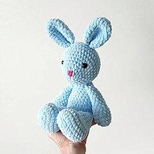 Hračky - Plyšový zajačik (Modrá) - 10737923_