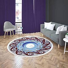 Úžitkový textil - Mandala v koberci  l anjel  l svetle modrá - 10737541_