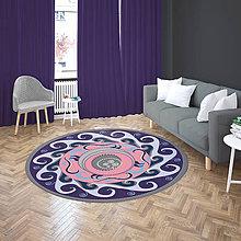 Úžitkový textil - Mandala v koberci  l anjel  l fialová - 10737552_