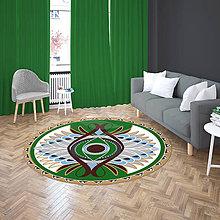 Úžitkový textil - Mandala v koberci  l motýl l zelená - 10737565_