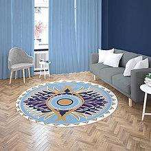 Úžitkový textil - Mandala v koberci  l motýl l bledo modrá - 10737571_