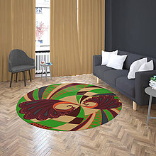 Úžitkový textil - Mandala v koberci  l svet l hnedá - 10737598_