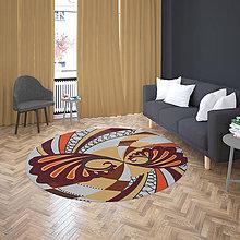 Úžitkový textil - Mandala v koberci  l svet l béžová - 10737600_