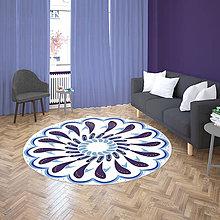 Úžitkový textil - Mandala v koberci  l radosť l bielo fialová - 10737605_