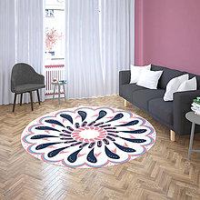 Úžitkový textil - Mandala v koberci  l radosť l bielo ružová - 10737612_