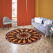 Úžitkový textil - Mandala v koberci  l radosť l hnedá - 10737613_