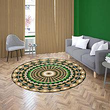 Úžitkový textil - Mandala v koberci  l pokojný svet l béžové zelná - 10737650_