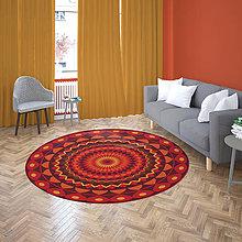Úžitkový textil - Mandala v koberci  l pokojný svet l červená - 10737717_