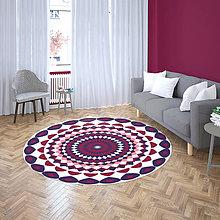 Úžitkový textil - Mandala v koberci  l pokojný svet l bielo  fialoá - 10737727_
