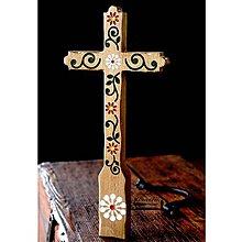 Dekorácie - Kríž maľovaný VI. - 10737771_
