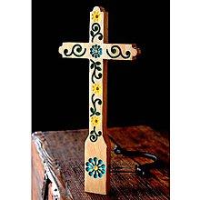 Dekorácie - Kríž maľovaný VII. - 10737778_