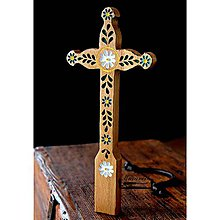 Dekorácie - Kríž maľovaný VIII. - 10737788_
