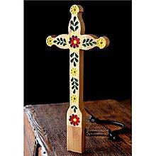Dekorácie - Kríž maľovaný IX. - 10737792_