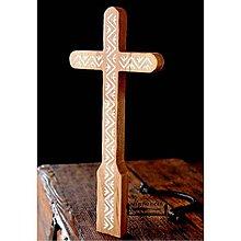 Dekorácie - Kríž maľovaný V. - 10737811_