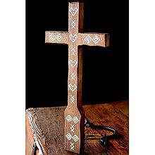 Dekorácie - Kríž maľovaný I. - 10737847_