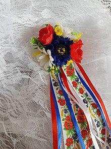 """Pierka - folklórne pierko pre starejšieho, družbu z kolekcie """"lúčne kvietky"""" - 10737969_"""