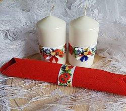 Svietidlá a sviečky - folklórne sviečky na stôl mladomanželov