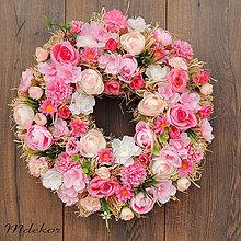 Dekorácie - Veniec ružový sen II - 10738638_
