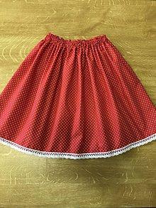488e817504d5 Detské oblečenie - Detská suknička - červená s bodockou. - 10739027