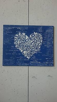 Tabuľky - Srdiečko z lásky - 10737446_