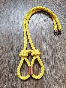 Náhrdelníky - Medený náhrdelník  (Žltá) - 10737888_