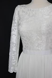 31c8c15e98e0 Šaty - Svadobné šaty z tylovej vyšívanej krajky s dlhým rukávom - 10737288