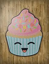 "Detské doplnky - Detský tvarovaný koberec ""Cupcake"" - 10737986_"