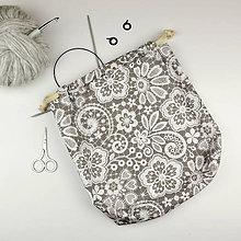 Iné tašky - Krajkovaná tvoritaška ~ projektová taška na vaše tvorenie - 10739126_