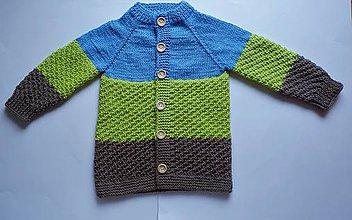 Detské oblečenie - Ručne pletený sveter - 10738118_