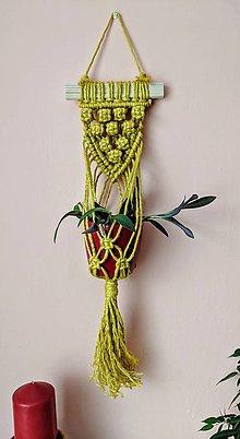 Dekorácie - Závesná dekorácia na kvetináč - 10738796_