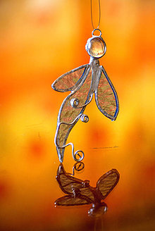 Dekorácie - Anjel v modrom - 10739457_