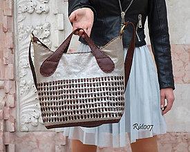 Kabelky - Kožená kabelka Silver bag - 10739263_