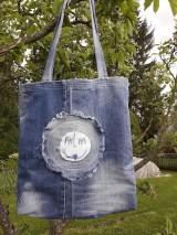 Veľké tašky - Taška riflova - 10739415_