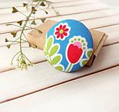 Odznaky/Brošne - Brošňa s farebnými kvetmi - 10737901_