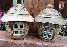 Svietidlá a sviečky - Keramický domček - svietnik - 10737220_