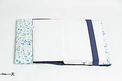 Papiernictvo - Obal na knihu otvárací - nezábudky - 10737298_