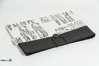 Papiernictvo - Obal na knihu - noty v bielom - 10737395_